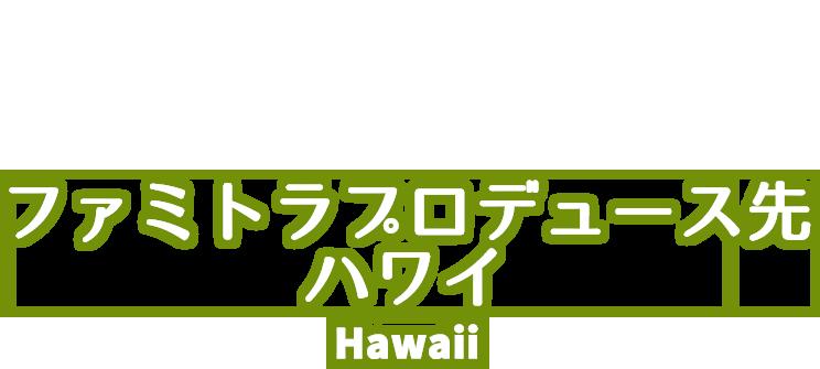 ファミトラプロデュース先(ハワイ)